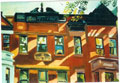 Painting of Sunlit Brownstones sold
